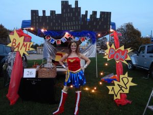 Wonder Woman or Queen Sarah Sigmon? Westville Lions Club Trunk or Treat!