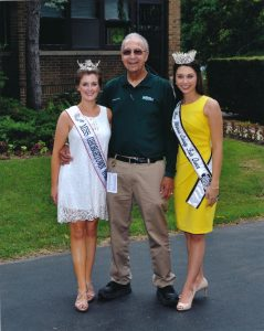 Raymond Poe, Illinois Agricultural Director, Queen Sarah and Miss Illinois County Fair Abby Foster